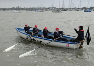 2013 April Witchoar crossing the finish line at Brightlingsea